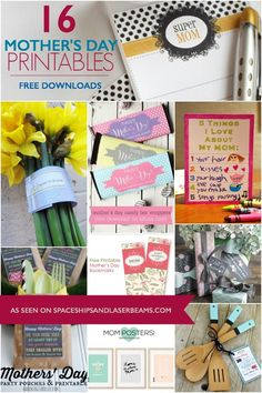 Are you getting ready for Mother?s Day? These free printables will make it easier. There are: gift tags and wraps, candy bar wraps, bookmarks, coupon books for gifting promised chore duty, note paper,