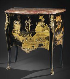 Commode en laque de Chine et bronze doré dépoque Louis XV | lot | Sothebys