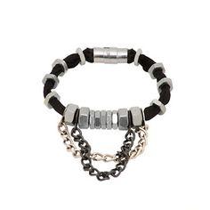 Metal Nuts Chain Bracelet, $40, now featured on Fab.