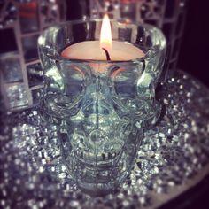 Crystal Skull shot glass or candle holder