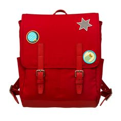 Red Mountain by VERMALA - children's backpack with attitude - www.vemala-bag.com Hiking Backpack, Little Ones, Messenger Bag, Satchel, Backpacks, Red, Bags, Attitude, Mountain