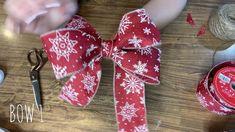 Ribbon Crafts, Wreath Crafts, Diy Wreath, Diy Bow With Ribbon, Make A Wreath Bow, Making Ribbon Bows, Making A Bow, Making Bows For Wreaths, Wreath Bows