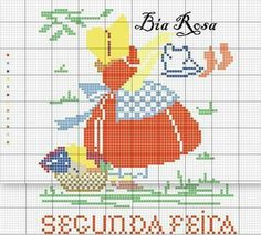 Brother Innovis, Stitch Doll, Sarah Kay, Sunbonnet Sue, Charts And Graphs, Crochet Stitches, Cross Stitch Patterns, Needlework, Diy And Crafts
