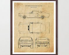 Ford Mustang Patent - 1967 Mustang - Muscle Car - Car Art - Ford Art - Mustang Poster - Ford Mustang Art - Car Art - Car Patent - Car Poster