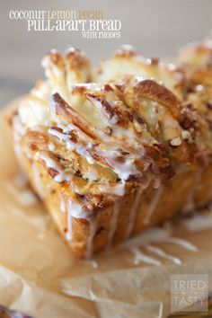 '25 COCONUT RECIPES TO TAKE YOU ALL THE WAY TO PARADISE!' Including Coconut Lemon Pecan Pull-Apart Bread from Tried and Tasty!