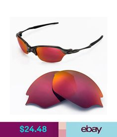 b87257bdaa Unisex Accessories Walleva Polarized Fire Red Lenses For Oakley Romeo 2.0   ebay  Fashion Oakley