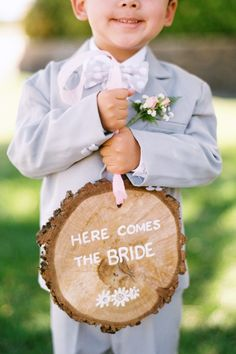 Here comes the bride - too cute!  Adam can do this and then Ethan be the ring bearer