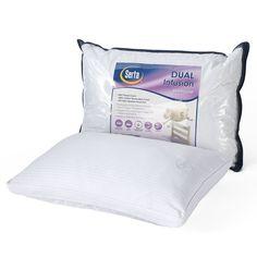 Serta Dual Infusion Pillow, White