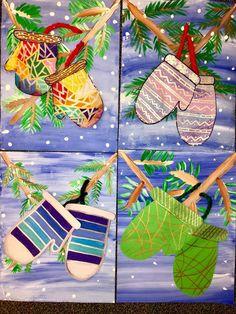Winter Art Projects, Winter Project, Kindergarten Art, Middle School Art, Arts Ed, Art Lesson Plans, Art Classroom, Winter Theme, Elementary Art