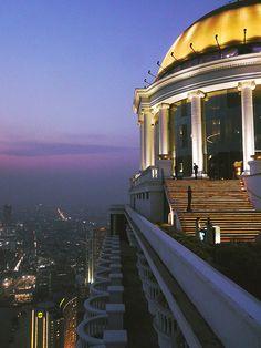 Lebua Hotel, Sky Bar, Bangkok, Thailand - I pretty much took this exact picture.