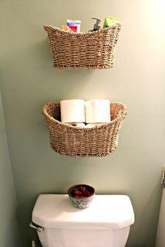 15 Rustic DIY Bathroom Decor Ideas For Your Bathroom Perfection - Smart Home and Camper Diy Bathroom Decor, Home Decor Bedroom, Bathroom Storage, Small Bathroom, Diy Home Decor, Bathrooms, Bathroom Toilets, Bathroom Wall, Modern Bathroom
