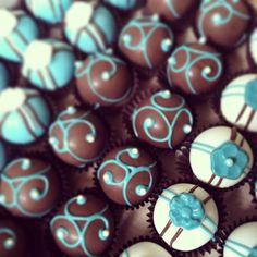 cake balls!#swirl it up, and #enjoy the #sweet #sensational #decorative #ball for a #babyshower #party www.cakeballers.com #thecakeballers #cakeballers #cakeballer #doinitballerstyle #stayclassy #ballsofcake #eatyourheartout #cakeballs #cake #ballersfromboise