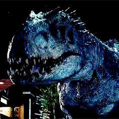 Indominus commanding Blue to attack: Jurassic World Jurassic World Characters, Jurassic Movies, Jurassic Park Series, Jurassic Park 1993, Blue Jurassic World, Jurassic World Fallen Kingdom, Michael Crichton, Jurrassic Park, Indominus Rex