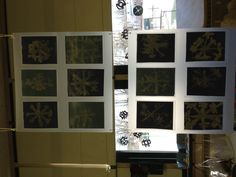Prek snowflake art in our Reggio room