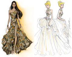 Pocahontas de Roberto Cavalli / Cinderela de Donatella Versace