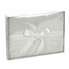 Salco Guest Book with Lace and Rose - White: Amazon £9.14