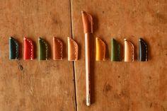 レザー ペンキャップ 6個セット by メガネワークス 文房具・ステーショナリー その他 Magnetic Knife Strip, Knife Block, Stationary, Give It To Me, Creema, Tables, Leather, Boxes, Handmade
