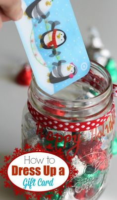 Here's a cute way to give a gift card this holiday! | CatchMyParty.com #GiftCardCheer #TargetHolidayGiftCard