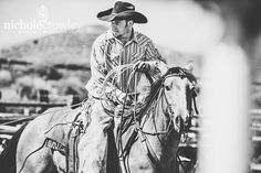 Love this photo of her rancher husband on his horse by photographer, Nichole Crowley. See full post on the blog of 17 inspirational documentary male portaits.