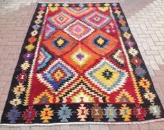 Kilim rug 110 x 85 Kilim Carpet area rug kelim rug by PocoVintage