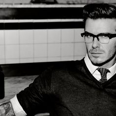 If you can kick a ball, you can wear a sweater with a tie and look good with four eyes ;)