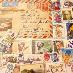 Vintage Russian Postage Stamps