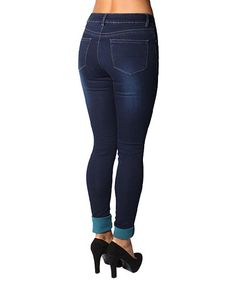 Another great find on #zulily! Dark Wash Celina Skinny Jeans - Women #zulilyfinds