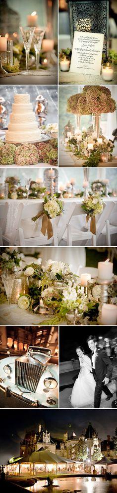 Biltmore Estate, Asheville, North Carolina real wedding, detail images by Woodward + Rick