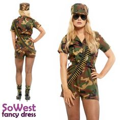 Female Soldier, Army Soldier, Cosplay Costumes, Halloween Costumes, Ladies Fancy Dress, Jumpsuits For Girls, Halloween Fancy Dress, Hat Sizes, Cover Up