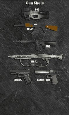 Do you love guns? Or maybe you would like to shoot with such a popular weapon as Belgian submachine gun FN P90? This is easy! Download this free app and you will have the opportunity. But do you really think that we will offer you only one weapon to choose? Of course not. We have provided you with an arsenal of weapons. Your attention also given:<br>* Kalashnikov - AK-47<br>* Automatic Rifle - M16<br>* The German machine gun from World War II - MG 42 (Maschinengewehr 42)<br>* Austrian gun…