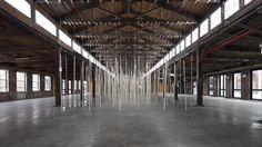 Studio Zimoun installation at Knockdown Center NYC