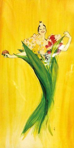 René Gruau (1909-2004), Diorissimo. #Dior