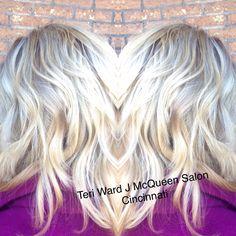 Blonde hair cool blonde Teri ward @ J McQueen Salon