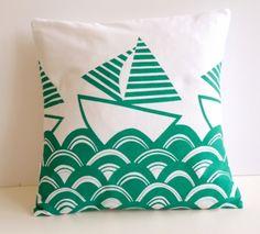 Screen Printed Boat Cushion