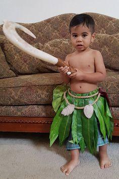Maui Inspired Cosplay Leaf Skirt for Kids
