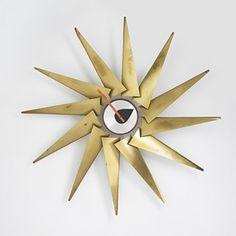 """Turbine"" Model 2240 Wall Clock, Howard Miller Clock Company, Designed by Irving Harper, 1957"