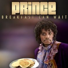 "Prince is releasing a new single called ""Breakfast Can Wait,"" and here's the cover art for it, featuring Dave Chappelle dressed as Prince and holding a plate of pancakes. Chappelle memorably played Prince on Chappelle's Show during a ""Charlie [. Dave Chappelle, Chappelle's Show, Nova, Hollywood, Tonight Show, Roger Nelson, Prince Rogers Nelson, News Songs, The Comedian"