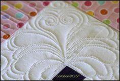 Heart Feather quilting design by Carla Barrett http://featheredfibers.wordpress.com/2014/04/12/heart-feather-design/