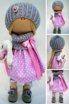 Tilda doll Handmade doll Fabric doll Textile doll Interior doll Art doll Cloth doll Soft doll Decor doll Nursery doll