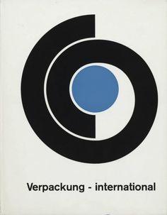 """Kurt Weidemann, Wim Crouwel """"Verpackung - international"""" Book, Verlag Gerd Hatje, 1968"""