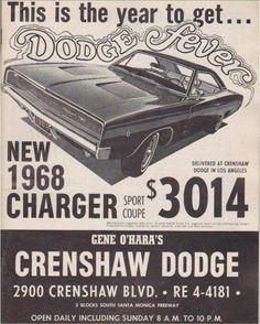 1968 Dodge Charger AD More