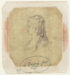 Augustin Dupré, 1791, Profile of Marie-Antoinette. Compare this to the wax head, above, to see how good a likeness he derived.