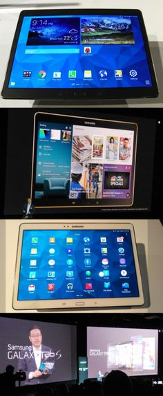 The winner and new tablet champion: The Samsung Galaxy Tab S? It's definitely a contender with its Super AMOLED display—the first for a consumer tablet. Unlike an LCD pixel, which creates colors by filtering light from a white backlight, AMOLED pixels emit light themselves, thus allowing for richer colors. The @Samsung Mobile US Galaxy Tab S is thinner than an Apple iPad Air and its 2,560-by-1,600-pixel display is also sharper. The new 8.4- ($400) and 10.5-inch ($500) units can be preordered now.