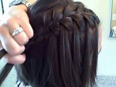 Waterfall Braid (Self) | Cute Girls Hairstyles - YouTube