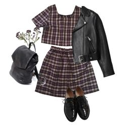 """""""tartan"""" by opheliaopia ❤ liked on Polyvore featuring La Perla, Acne Studios and Maybe-Baby"""