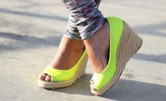 #wedges #sandals #DIY #yellow