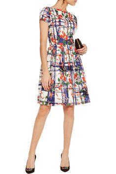 Shop on-sale Oscar de la Renta Printed cotton-blend poplin dress. Browse other discount designer Dresses & more on The Most Fashionable Fashion Outlet, THE OUTNET.COM