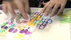 CHA2014 - Julie Fei-Fan Balzer Demos Stencil Techniques for The Crafters...