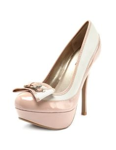 Belted Bow 2-Tone Loafer Pump