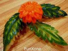 Carrot flower with watermelon leaves.